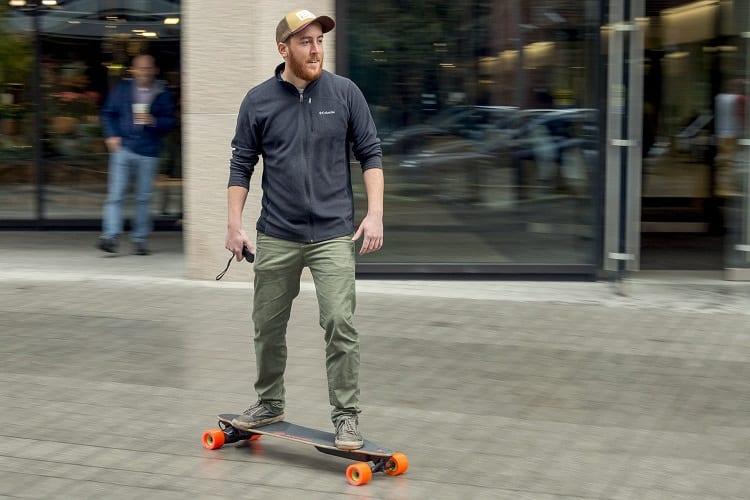 Man Driving Electric Skateboard
