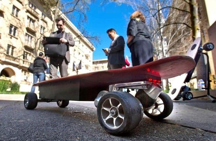Checking Electric Skateboard